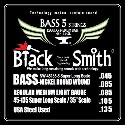 Black Smith NW-45135-5-35(45-135)35吋 5弦 貝斯弦 - 【黃石樂器】