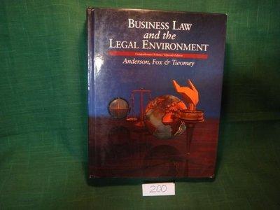 【愛悅二手書坊 07-24】Business Law and the Legal Environment