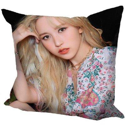現貨!!Mina 名井南 個人 TWICE 抱枕 靠墊 枕頭,40x40cm,緞紋布,色彩鮮豔,印製精美。C款