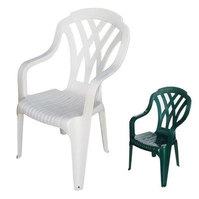 兄弟牌綠色塑膠格網高背椅4張...