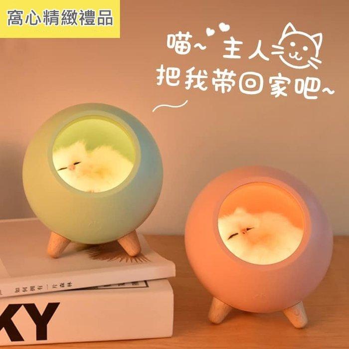 創意貓咪寵愛居小夜燈 交換禮物 溫馨小夜燈 療愈小夜燈 精美生日禮物 減壓床頭燈 起夜嬰兒伴眠床頭USB充電燈