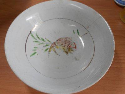【玉文坊】-民俗-* 阿嬤的古早味素魚碗 * 寬: 19 公分 2F1-14