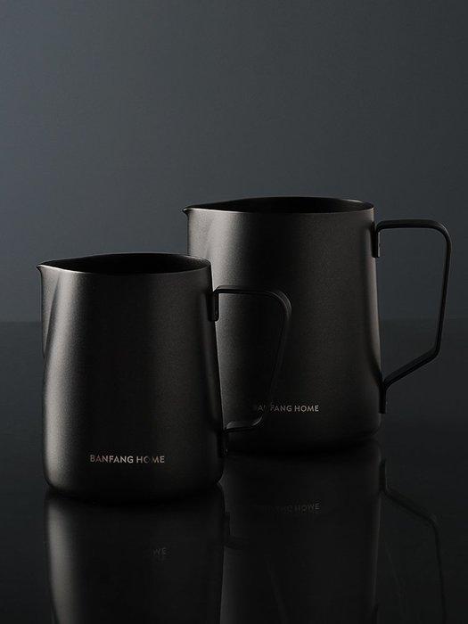 304不銹鋼尖嘴拉花杯咖啡手沖壺奶泡杯咖啡機配套不粘拉花缸神都偏愛規格不同價格不同