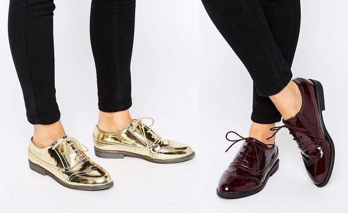 ◎美國代買◎ASOS巴洛克雕花鞋面英倫個性風漆皮雕花平底牛津鞋~歐美街風~大尺碼