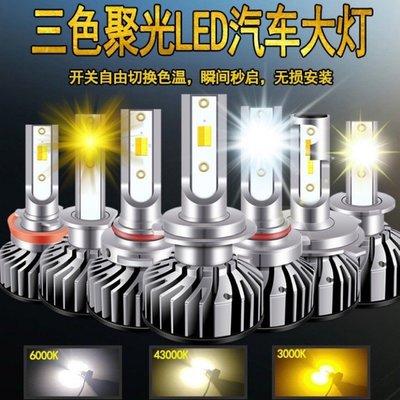 『光爍』台灣保固現貨 三色溫 LED大燈 55W 4800LM H4 HS1 GP 新名流 勁戰 勁風光 雲豹 野狼