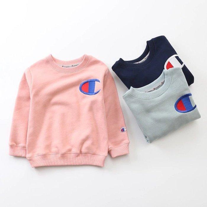 1220:)日單🎉冠軍🎉 男女童  親子裝  兒童圓領加厚長袖衛衣 100-160cm 現+預  深藍,粉,淺藍