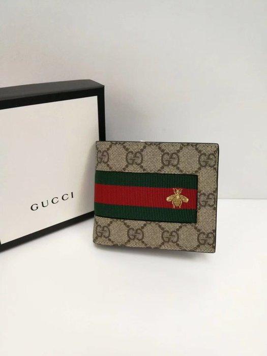 GUCCI 春夏新款 彩條GG短錢包 $11800/個 預購  國外代購
