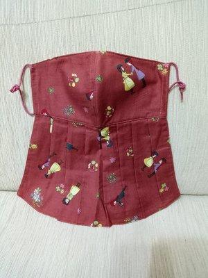天使熊雜貨小鋪~新純手工日本布立體口罩(紅髮女孩)大人加長版-單車必備~原價450