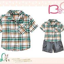 【B& G童裝】正品美國進口GYMBOREE Plaid Gauze Shirt橘綠色格子短袖襯衫3yrs