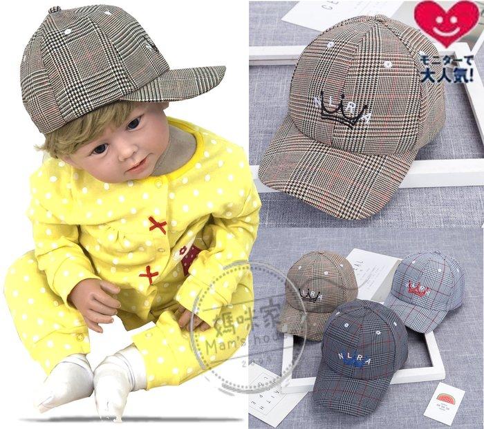 媽咪家【R115】R115紳士格紋帽 帥氣 遮陽 休閒 造型帽 棒球帽 幼兒帽 寶寶帽 紳士帽 可調整頭圍48± 5cm