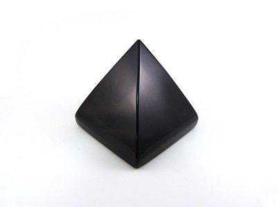 ☆寶峻晶石館☆新款~能量塔 黑曜石金字塔 提高正能量 5cm (高約4.8cm)