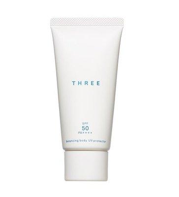 【Q寶媽】THREE 平衡UV防護乳 BODY  80ml  SPF50/ PA+++ 全新專櫃貨 有中文標籤