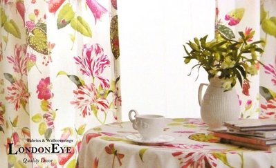 【LondonEYE】田園交響曲 美國進口純棉傢飾布X甜美鄉村風格X客製化定製窗簾布藝 精緻居家
