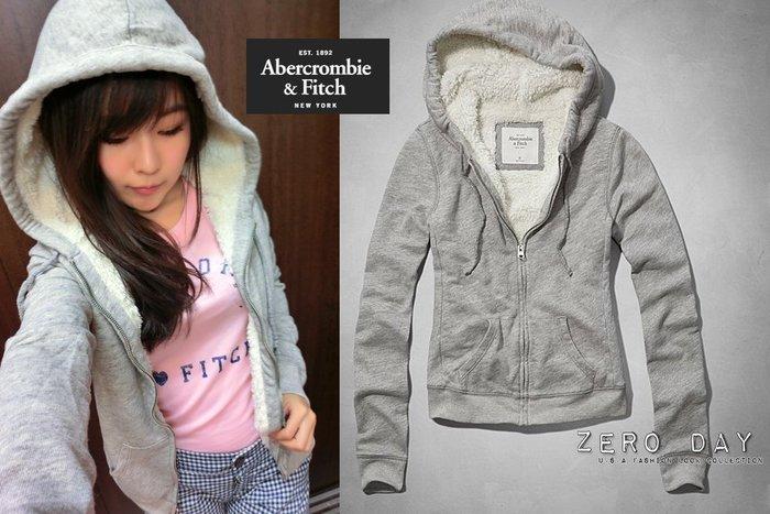 【零時差美國時尚網】A&F Abercrombie&Fitch Kristen Sweatshirt熊寶寶毛連帽外套灰色