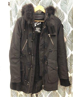 SLY 黑色N3B 中長版外套 size:1號 85新 割愛
