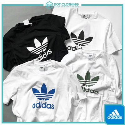 DOT 聚點 Adidas Originals 白藍 白綠 中logo 基本款 短T 男款 CW0709 DH5773