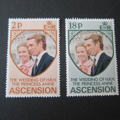【雲品】阿森松島Ascension Islands 1973 Sc 177-178 set MNH 庫號#70305