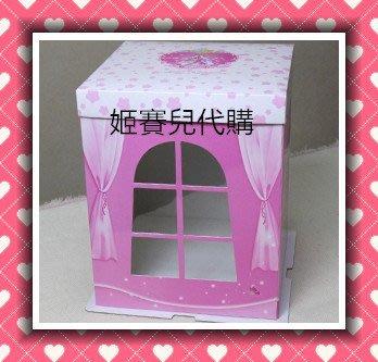 【國外代購】一組五入(無拆賣)  8吋  8寸  加厚 公主蛋糕盒 芭比娃娃蛋糕盒 娃娃加高蛋糕盒 翻糖蛋糕 粉紅色