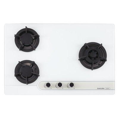 詢價另有折扣㊣櫻花G-2633GW/GB三口玻璃大面板易清崁入式檯面爐 MIK廚具直營