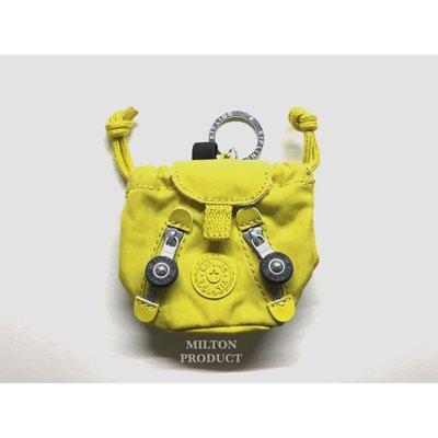 Kipling 比利時品牌 後背包 造型 鑰匙圈 零錢包 現貨 帆布 黃色