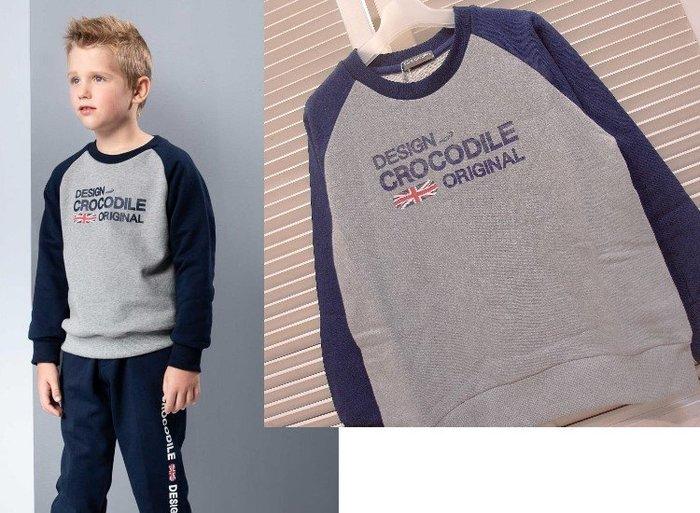 『小鱷魚Crocodile童裝-2020秋冬款』558408 印圖內毛圈長袖上衣(120-170公分)☆優惠款☆