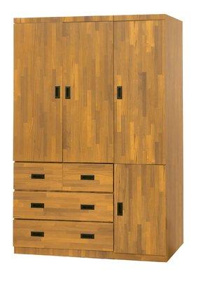 【南洋風休閒傢俱】精選時尚衣櫥 衣櫃 置物櫃 拉門櫃 造型櫃設計櫃- 集層木4*7尺衣櫥 CY182-447