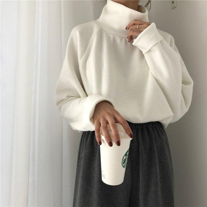 SeyeS street雜誌款自然設計感基本款羅紋高領上衣