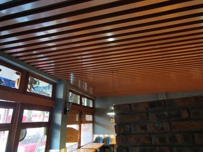 【現貨即出】重慶鋁方通吊頂木紋U行槽鋁格柵集成吊頂上門安裝【618促銷】