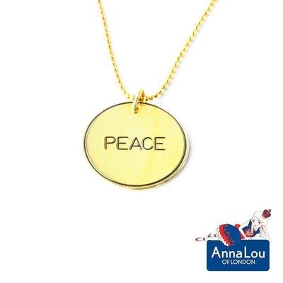Anna Lou OF LONDON 台北ShopSmart直營店 倫敦品牌優雅字墜項鍊-Peace