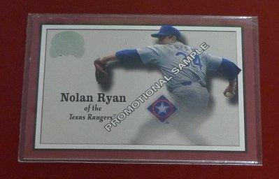 2000 Fleer Greats of the game Nolan Ryan Promotional Sample