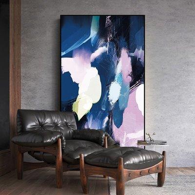C - R - A - Z - Y - T - O - W - N 現代簡約抽象色彩玄關裝飾畫北歐過道走廊大尺寸長版掛畫