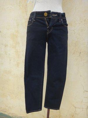 jacob00765100 ~ 正品 Uniqlo Skinny Fit 深藍色窄管七分牛仔褲 XS