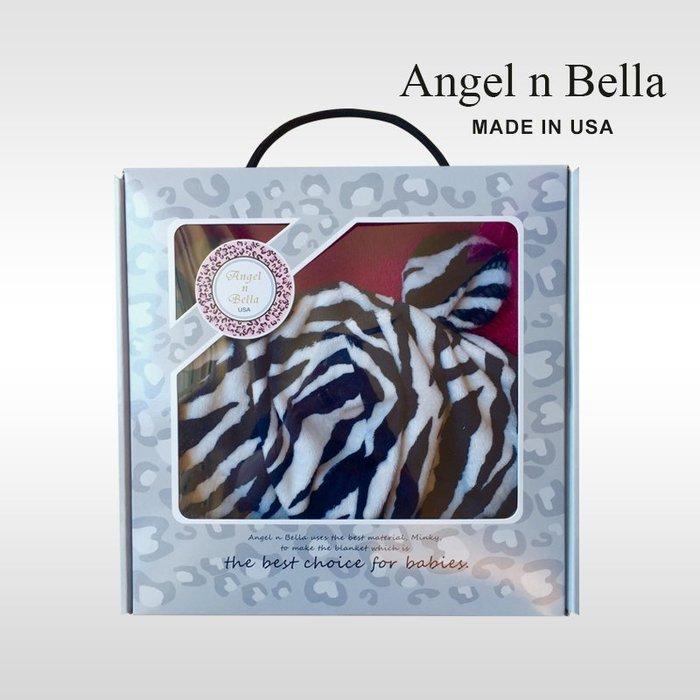 ☆°Angel n Bella.╯☆°【美國製】頂級時尚動物紋連帽浴巾手帕禮盒組-桃紅斑馬(彌月禮/生日禮)