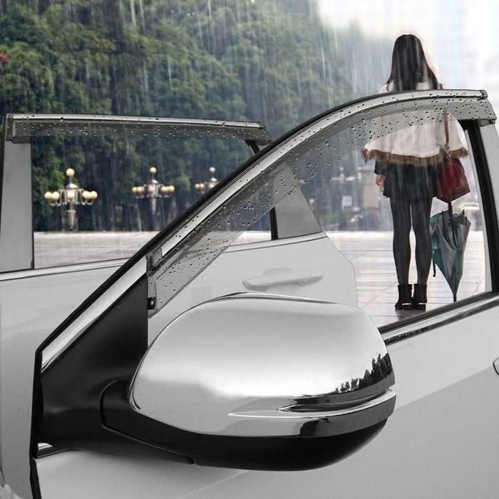 SX千貨鋪-17款本田CRV晴雨擋2019新CRV裝飾改裝專用不銹鋼車窗擋雨板雨眉#汽車用品#汽車配飾#裝飾條#改裝