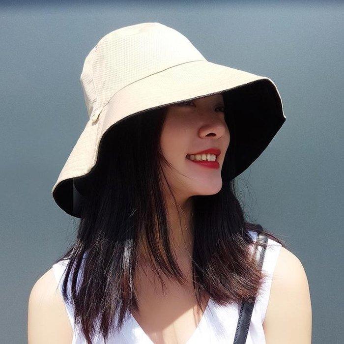 限時優惠 遮陽帽雙面大檐漁夫帽女夏休閒百 獨品飾品吧☂