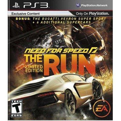(現貨全新) PS3極速快感:亡命天涯 限量版 英文美版 Need for Speed: The Run