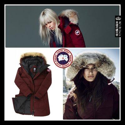 ♔MissyJ英國代購♥ Canada Goose Parka 知名品牌加拿大鵝酒紅色帶帽狼毛領禦寒大衣防風頂級羽絨外套