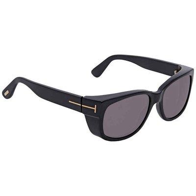 【換日線】男太陽眼鏡 Tom Ford Grey Rectangular Sunglasses FT0441 01A FT0441 01A 台中市
