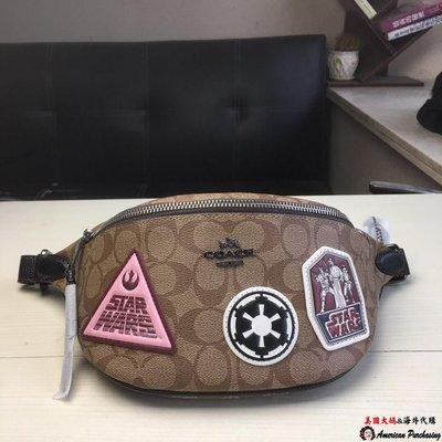 美國大媽代購 COACH 寇馳 88013星戰系列徽章胸包 腰包 美國代購