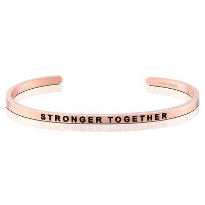 MANTRABAND 美國悄悄話手環 Stronger Together 在一起會更強大 玫瑰金手環