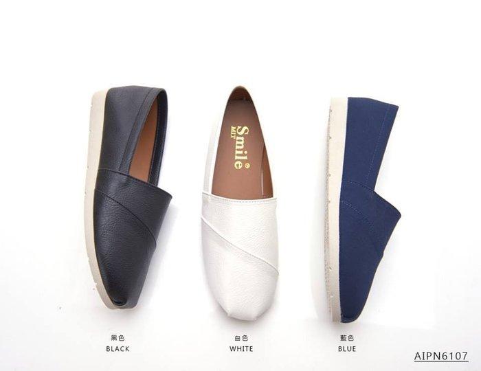 格子舖*【AINP6107】MIT台灣製 韓版百搭時尚簡約素面皮革材質 休閒懶人鞋 圓頭包鞋 便鞋 3色