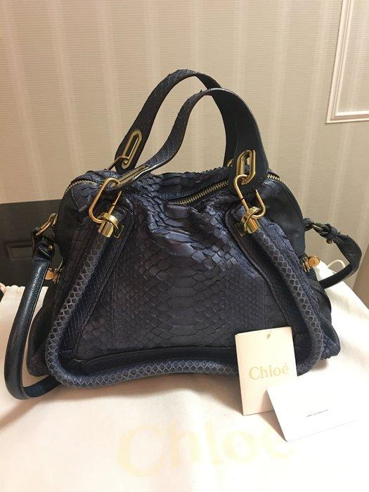 *Beauty*CHLOE藍色蛇皮包 150000 元WE18
