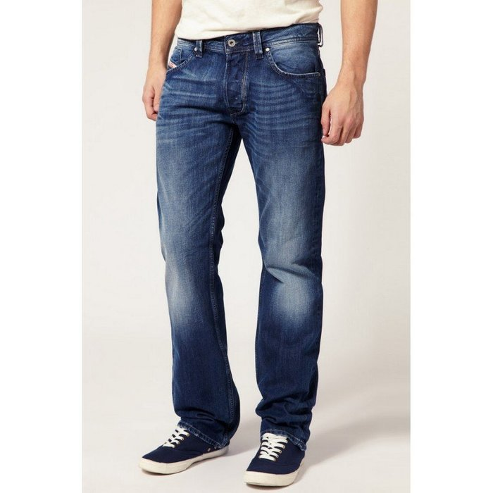 ~The Black Dan Moccani~ [三折二手拍] Diesel Larkee 008XR 刷白 直筒牛仔褲