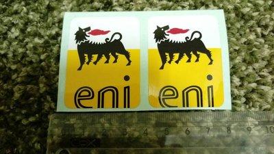 義大利原裝 Eni 原Agip 貼紙 噴火狗 Vespa原廠機油貼紙 機油貼紙 免運費 兩張一組