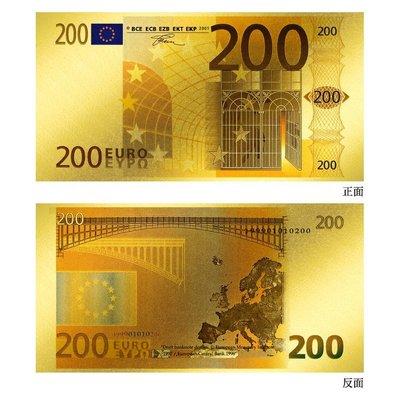 黃金鈔票 最美的歐元純金紀念鈔票 面額200元 收藏 紀念 禮贈品 免運費