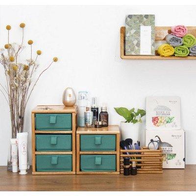實木桌面抽屜式收納盒 飾品化妝品整理盒雜物櫃置物櫃(C款)_☆好物優HiGoods☆