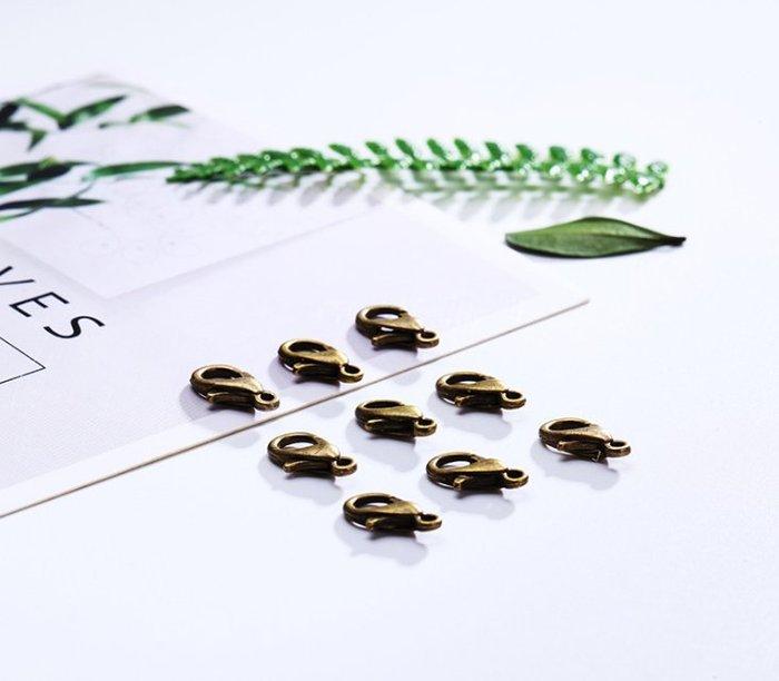 (現貨) G-033 古銅色 小龍蝦扣 (12mm) DIY飾品配件材 金屬小釦子 手機鏈繩扣掛件手鍊扣項鍊扣 手工材料