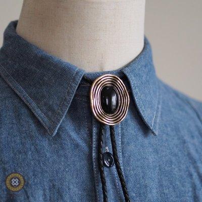 【Textric】保羅領帶 Bolo Tie 鍍金環繞 復古風格 項鍊 襯衫 中性 李鍾碩 A704