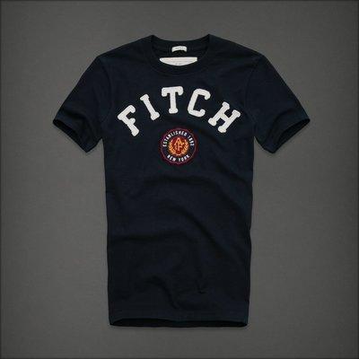 🇺🇸 Abercrombie & Fitch Boundary Peak 男 圓領刺繡貼布 短袖T恤 (L) by A&F