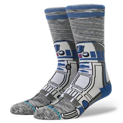 ☆【襪子館】☆【STANCE STAR WARS 星際大戰R2 Unit中筒襪】☆【STD003A5】☆(L)12/10到貨